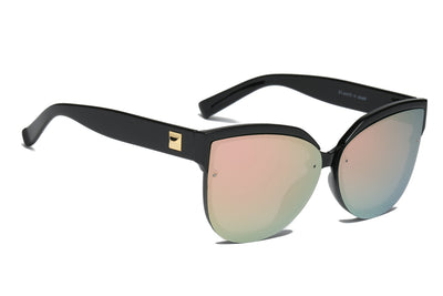 S2055 - Women Oversize Mirrored Cat Eye Sunglasses - Iris Fashion Inc. | Wholesale Sunglasses and Glasses