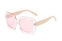 S1089 Women Retro Vintage Bold Square Oversize Sunglasses - Wholesale Sunglasses and glasses