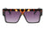 S1122 - Flat Top Square Oversize Sunglasses - Wholesale Sunglasses and glasses