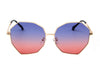 J2002 - Women Round Oversize Geometric Fashion Sunglasses - Iris Fashion Inc. | Wholesale Sunglasses and Glasses