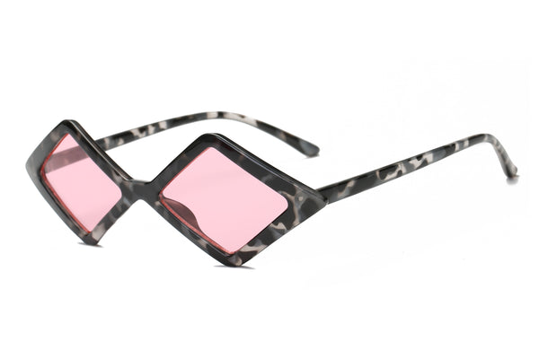 S1084 Women Modern Fashion Geometric Diamond Shape Sunglasses - Wholesale Sunglasses and glasses