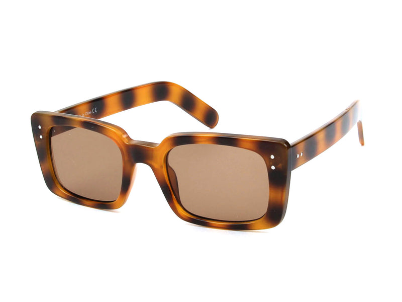 S1135 - Retro Vintage Rectangle Fashion Sunglasses - Iris Fashion Inc. | Wholesale Sunglasses and Glasses