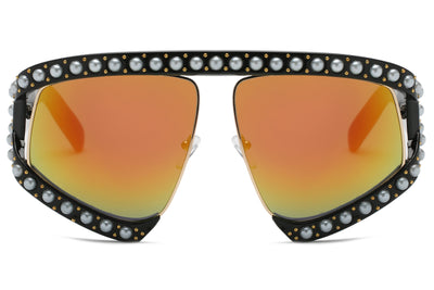 S6001 - Women Fashion Shield Oversize Semi-Rimless Sunglasses - Iris Fashion Inc. | Wholesale Sunglasses and Glasses