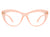 HBJ2013 - Women Retro Bold Round Cat Eye Fashion Blue Light Blocker Glasses