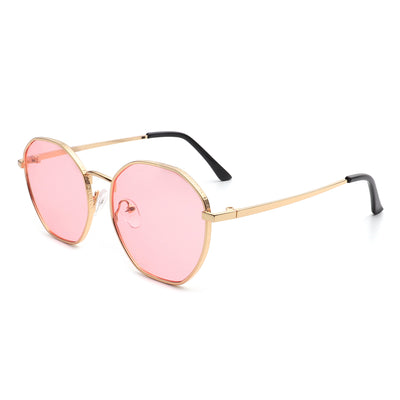 J2018 - Circle Round Retro Geometric Tinted Fashion Vintage Sunglasses