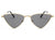 J1001 - Women Triangle Metal Cat Eye Fashion Sunglasses - Iris Fashion Inc.