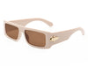 HS2001 - Retro Vintage Rectangular Flat Lens Sunglasses