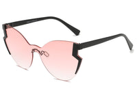 S2074 Women Fashion Oversize Cat Eye Sunglasses - Wholesale Sunglasses and glasses