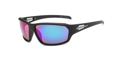 Y1001 - Men Sports Warp Rectangle Sunglasses - Iris Fashion Inc. | Wholesale Sunglasses and Glasses