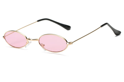 S2078 - True Retro Vintage Slim Metal Oval Sunglasses - Wholesale Sunglasses and glasses