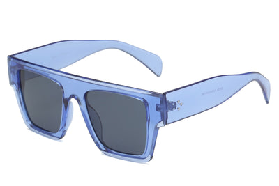 S1124 - Retro Flat Top Square Oversize Sunglasses - Iris Fashion Inc. | Wholesale Sunglasses and Glasses