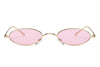 S2077 - Retro Vintage Slim Oval Metal Sunglasses - Iris Fashion Inc. | Wholesale Sunglasses and Glasses