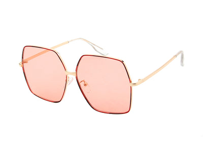 J2005 - Women Metal Square Oversize Fashion Sunglasses - Iris Fashion Inc. | Wholesale Sunglasses and Glasses