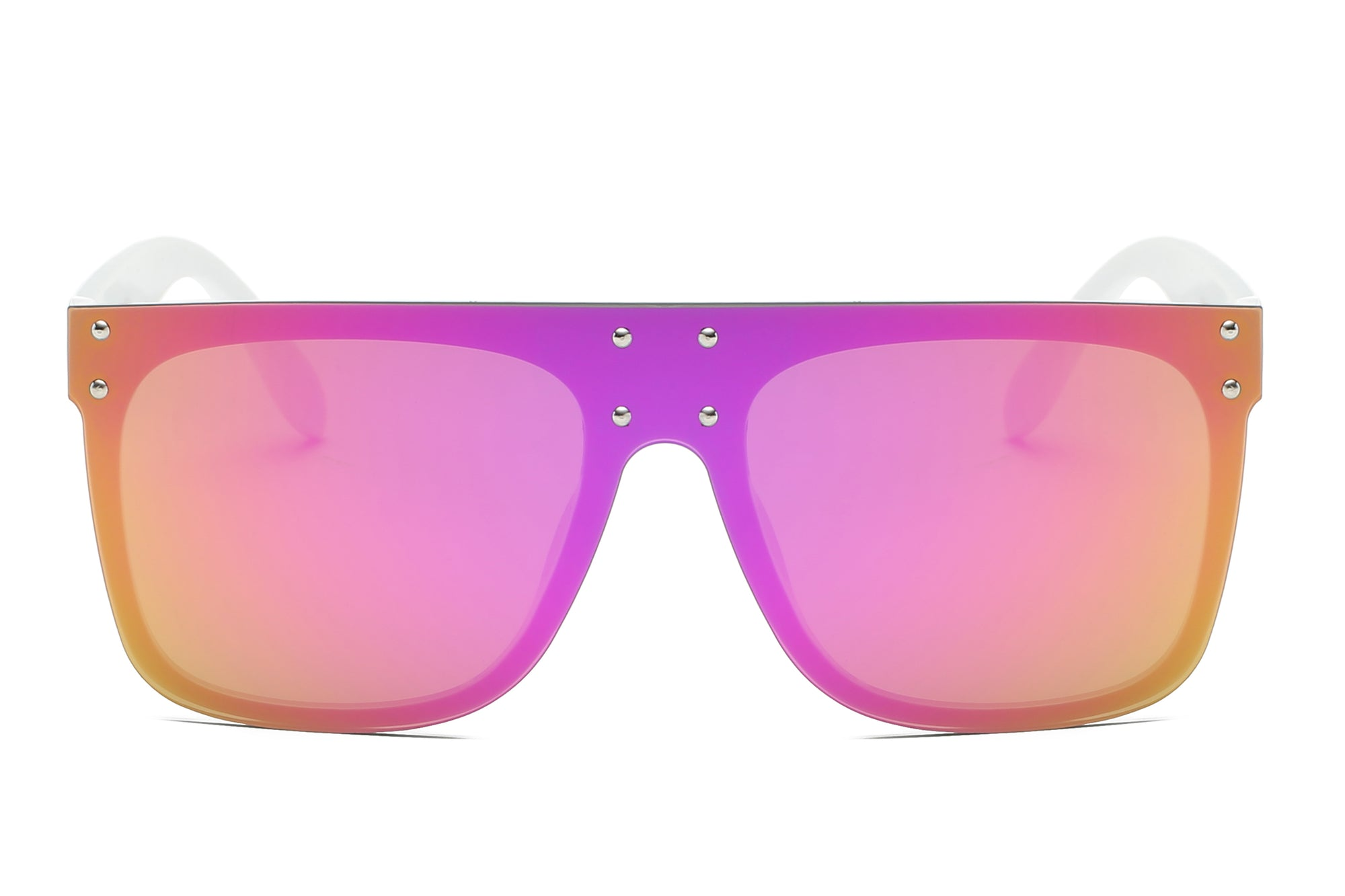 S2060 - Flat Top Oversize Mirrored Square Sunglasses - Iris Fashion Inc. | Wholesale Sunglasses and Glasses