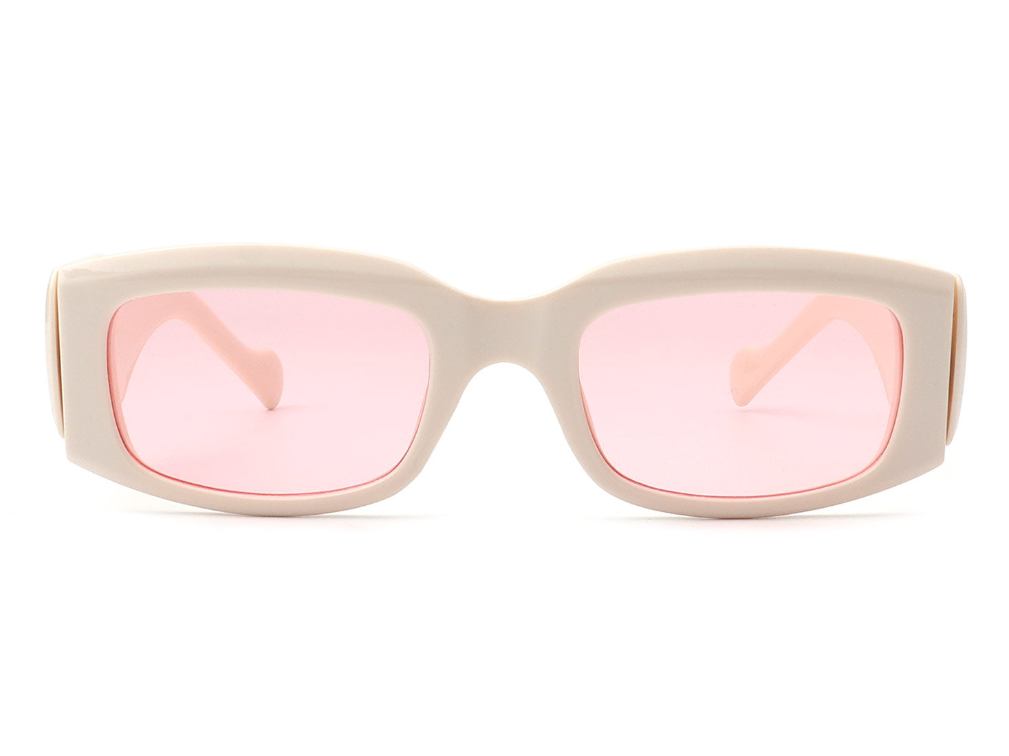 S1166 - Retro Rectangle Bold Vintage Thick Frame Fashion Sunglasses