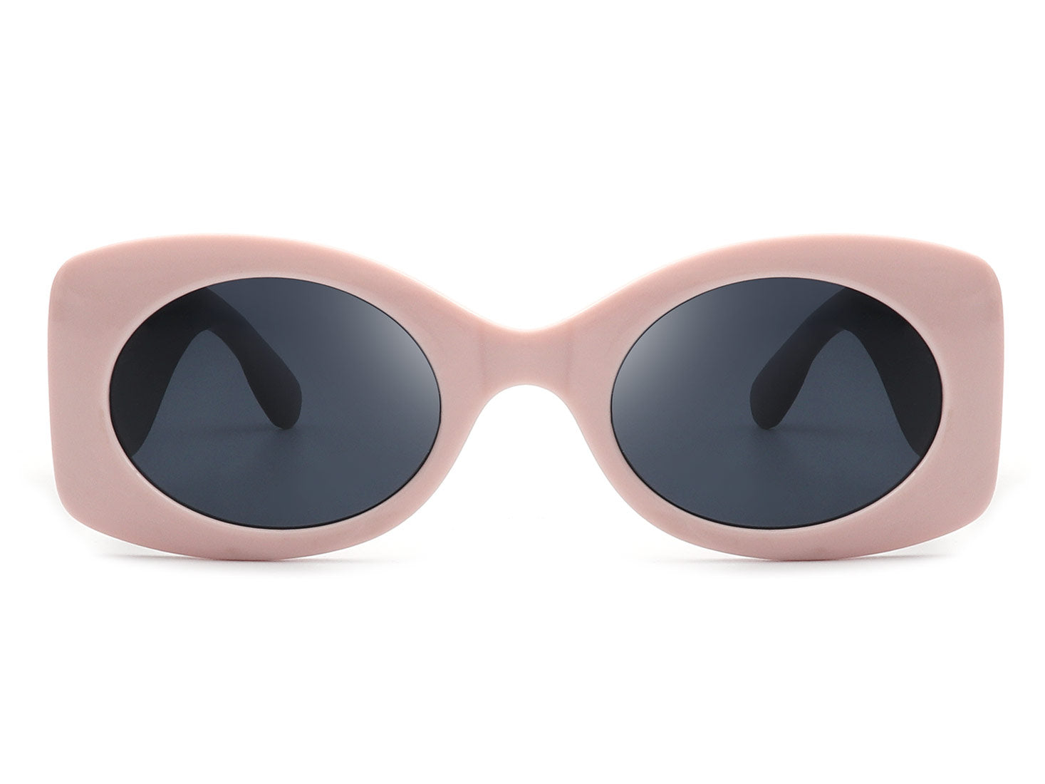 HS1031 - Retro Round Oval Bold Vintage Fashion Sunglasses
