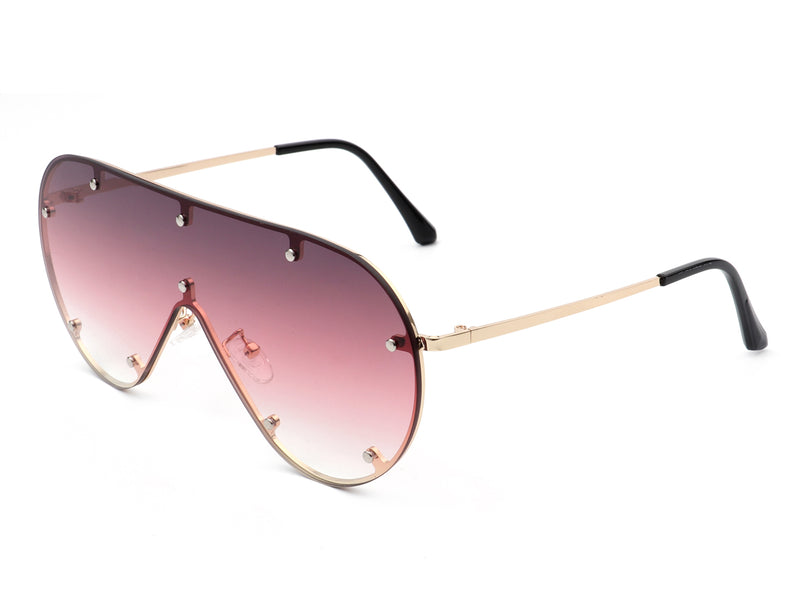 HW3006 - Retro Oversize Aviator Fashion Designer Sunglasses