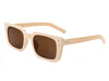 HS1020 - Flat Rectangle Retro Vintage Fashion Sunglasses