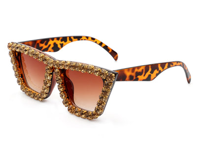 HS2006 - Women Retro Rhinestone Cat Eye Fashion Sunglasses