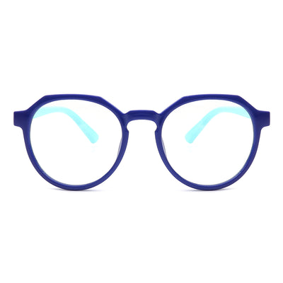 HK1009 - Kids Round Geometric Children Blue Light Blocker Glasses
