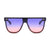 9009 - Retro Round Oversize Vintage Fashion Sunglasses
