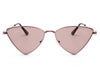 J1001 - Women Triangle Metal Cat Eye Fashion Sunglasses - Iris Fashion Inc. | Wholesale Sunglasses and Glasses