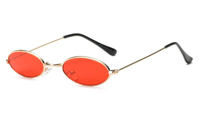 S2078 - True Retro Vintage Slim Metal Oval Sunglasses - Iris Fashion Inc. | Wholesale Sunglasses and Glasses