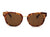 S1143 - Classic Round Horn Rimmed Unisex Fashion Sunglasses - Iris Fashion Inc.