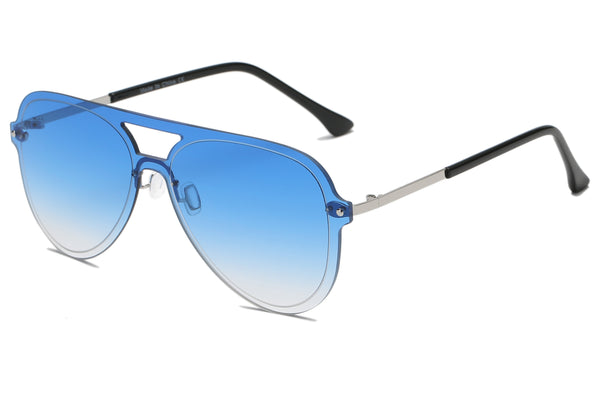S2065 Fashion Tinted Monolens Aviator Sunglasses - Wholesale Sunglasses and glasses