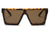 S2069 - Flat Top Square Oversize Fashion Sunglasses - Iris Fashion Inc. | Wholesale Sunglasses and Glasses