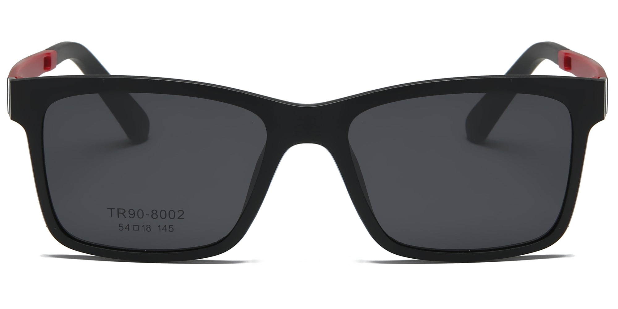 P8002 - Classic Square Clip-On Fashion Sunglasses - Iris Fashion Inc. | Wholesale Sunglasses and Glasses