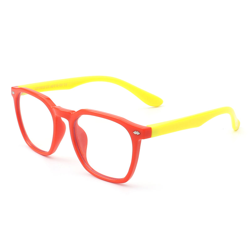 HK1011 - Kids Classic Square Children Junior Blue Light Blocker Glasses