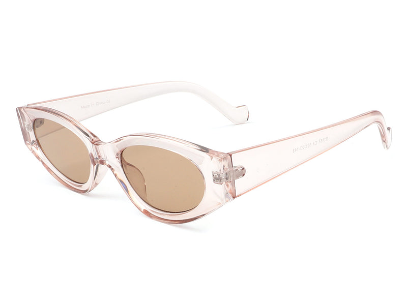 S1167 - Retro Slim Small Oval Cat Eye Fashion Designer Sunglasses