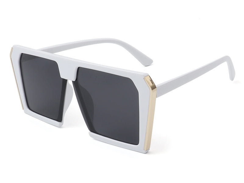 HS2010 - Retro Vintage Square Oversize Fashion Sunglasses