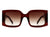 HS1013 - Retro Square Oversize Fashion Sunglasses