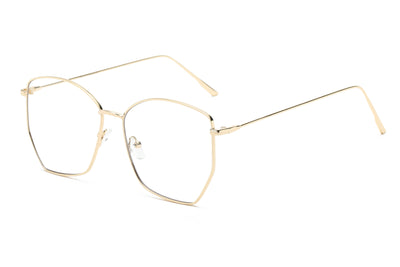 S2073 - Geometric Blue Light Blocker Women Fashion Eyeglasses