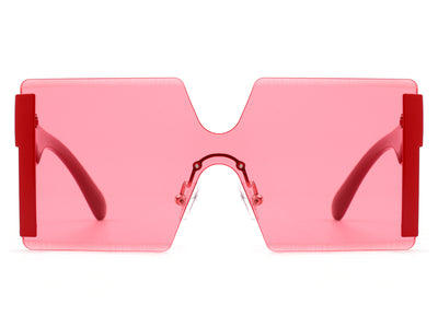 HS2002 - Women Square Oversize Rimless Tinted Fashion Sunglasses