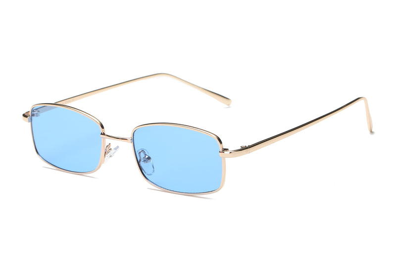 S2076 - Retro Vintage Slim Rectangle Sunglasses - Iris Fashion Inc. | Wholesale Sunglasses and Glasses