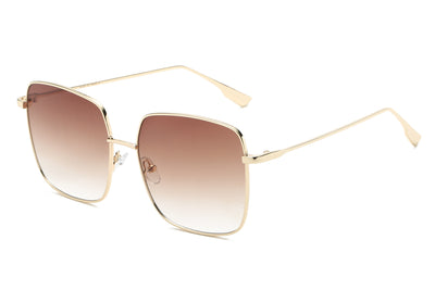 S2068 - Women Metal Flat Lens Square Sunglasses - Iris Fashion Inc. | Wholesale Sunglasses and Glasses