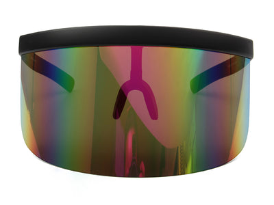 S1155 - Large Oversized Color Visor Shield Protection Sunglasses