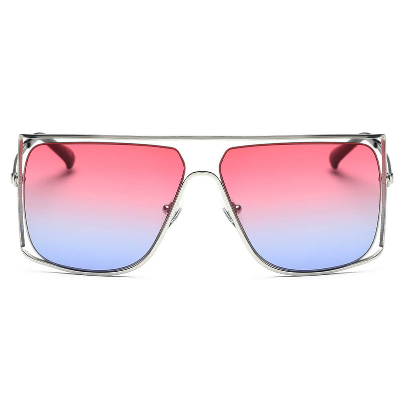 5dd35793e1a CA01 Women s Trendy Oversize Flat Top Metal Frame Sunglasses - Wholesale  Sunglasses and glasses here we