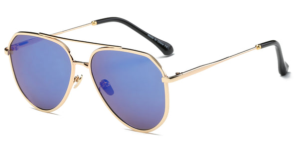 S2046 Unisex Mirrored Aviator Sunglasses - Wholesale Sunglasses and glasses