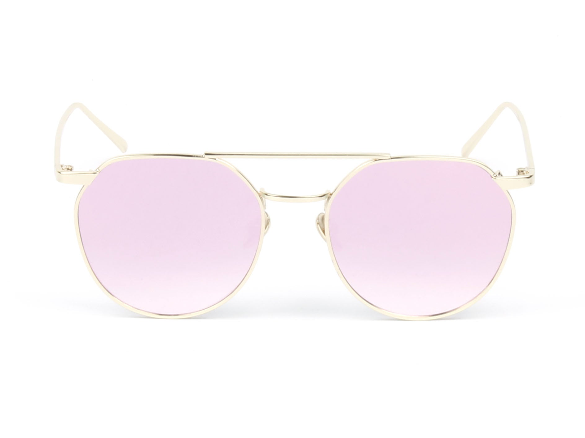 D63 - Vintage Round Mirrored Flat Lens Sunglasses - Wholesale Sunglasses and glasses