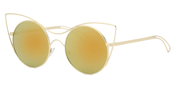S2049 Women Extreme Round Cat-Eye Sunglasses - Wholesale Sunglasses and glasses