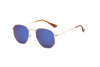 S1015 - Round Geometric Mirrored Fashion Sunglasses - Iris Fashion Inc.