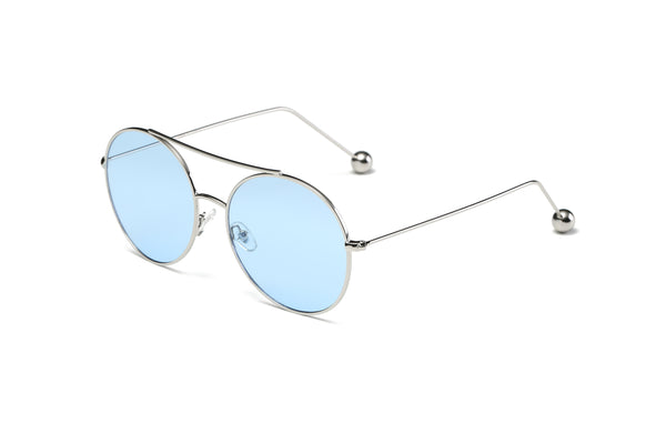 S1016 Unisex Round Tinted Lens Sunglasses - Wholesale Sunglasses and glasses