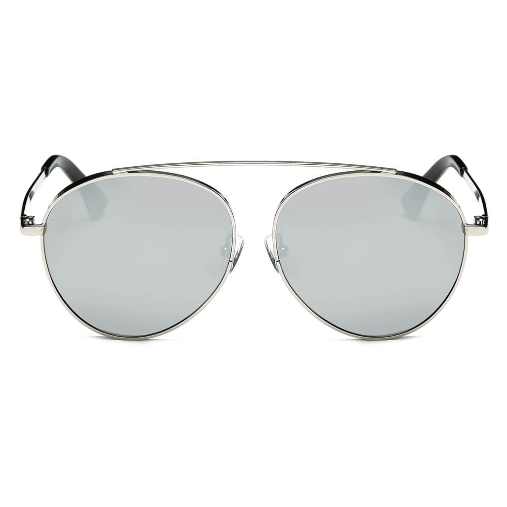 CA08 - Retro Mirrored Lens Teardrop Aviator Sunglasses - Iris Fashion Inc. | Wholesale Sunglasses and Glasses