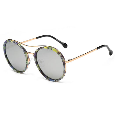 CA14 - Retro Polarized Lens Circle Round Sunglasses - Iris Fashion Inc. | Wholesale Sunglasses and Glasses