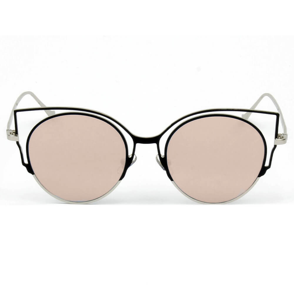 A20 Women's Signature Cut-Out Round Cat Eye Sunglasses - Iris Fashion Inc. | Wholesale Sunglasses and Glasses