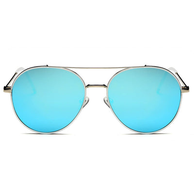 CB01 - Classic Mirrored Lens Metal Frame Aviator Sunglasses - Iris Fashion Inc. | Wholesale Sunglasses and Glasses
